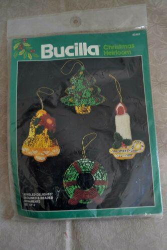 Bucilla 82482 Embroidery Craft Kit Holiday Ornaments Christmas, NIP