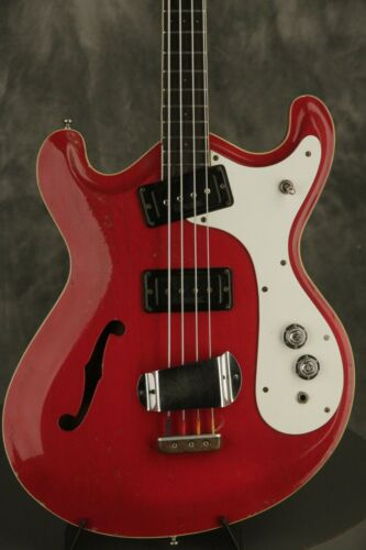 1967 Mosrite COMBO BASS semi-hollowbody RED