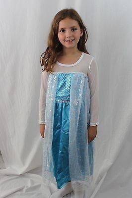 Boutique Elsa Schneekönigin Verkleidung + Halskette Kinder 7/8 Eis (Frozen Elsa Schnee Königin Kostüm)
