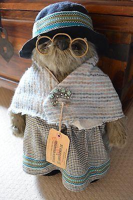 "1974 GABRIELLE 18"" ORIGINAL AUNT LUCY PADDINGTON BEAR WITH 2 ORIGINAL COINS VHTF"