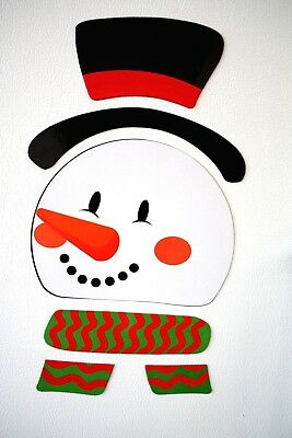 Refrigerator Locker Car-FROSTY SNOWMAN PUZZLE MAGNETS-Novelty Holiday Decoration - Halloween Locker Decorations