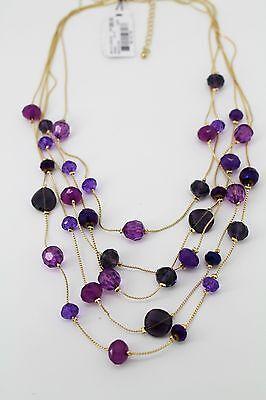Style&co Purple Gold Tone 5 Row Illusion (Illusion Style Necklace)