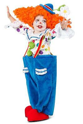 Premium Colorful Circus Clown Child Boys Girls Costume NEW  (Clown Costumes For Boys)