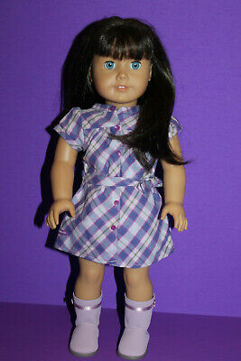 American Girl Doll Dark Brown Hair Blue Eyes