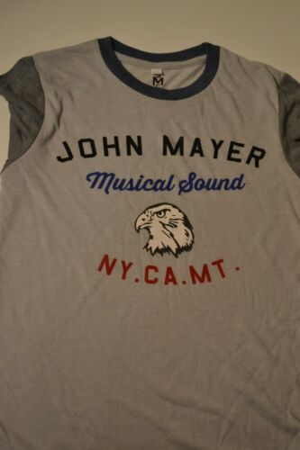 NWoT John Mayer 2013 World Tour Born & Raised Musical Sound NY CA MT Size Small