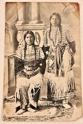 Antique Native American / Indian Real Photo Postcard / RPPC Shiffert? 1909 Ok.