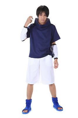 Naruto Shippuden Cosplay Costume Hidden Leaf Genin Uchiha Sasuke 1st Version (Sasuke Uchiha Shippuden Kostüm)