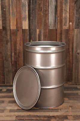55 Gallon Stainless Steel Drum Barrel Open Top New