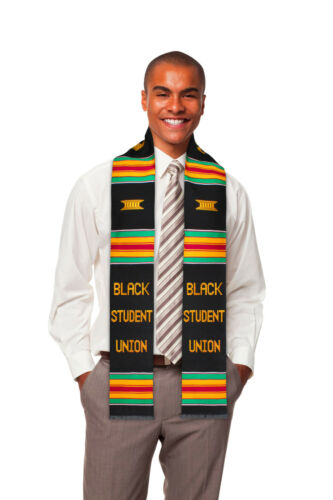 Black Student Union (BSU) Premium Handwoven Kente Cloth Graduation Stole