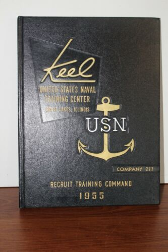 Navy Recruit Training Command 1955 Company 277  Keel Great Lakes Naval Center