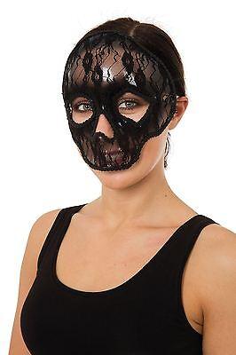 Schädel-Maske Spitze, Abendkleid-Partei-Kostüm-Zusatz #DE