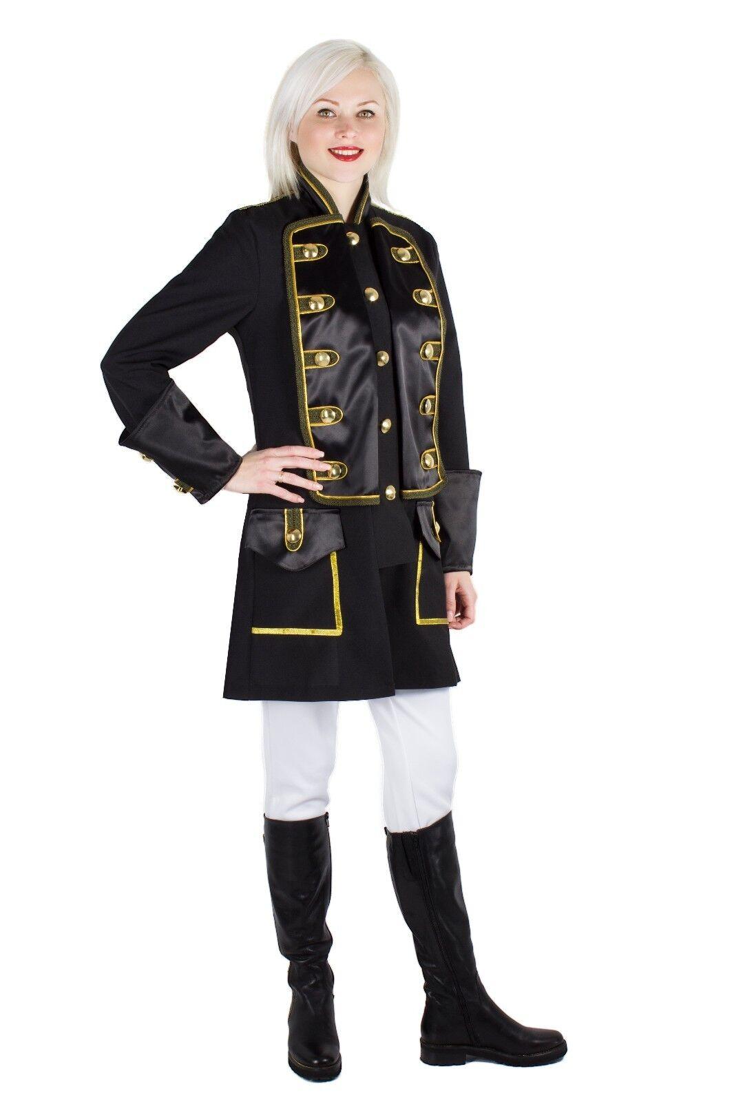 Damen Soldat Piraten Jacke Karnevalskostüm Uniform Fasching Gehrock Köln 36-50