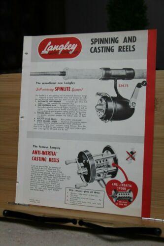 Brochure Langley Corporation San Diego California 1952 Vintage Dealer Spinning