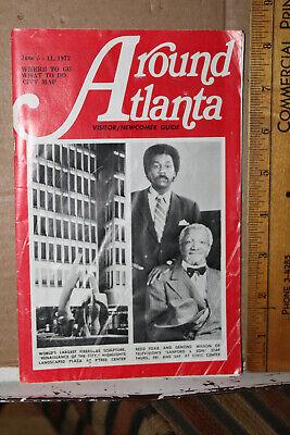 1972 Around Atlanta Newcomer Guide Sanford & Son Redd Foxx Demond Wilson Georgia