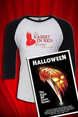 Rabbit in Red Lounge Vintage T-SHIRT FREE SHIP USA John Carpenter's Halloween
