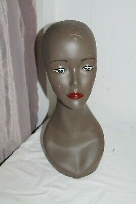 Hand Painted Colored Head Mannequin For Store Display