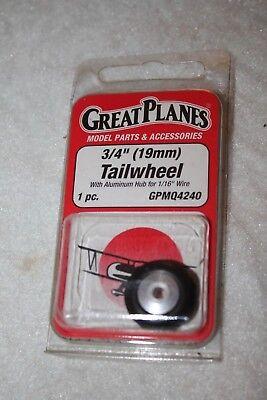GREAT PLANES 3/4 19MM Tailwheel GPMQ4240 ()