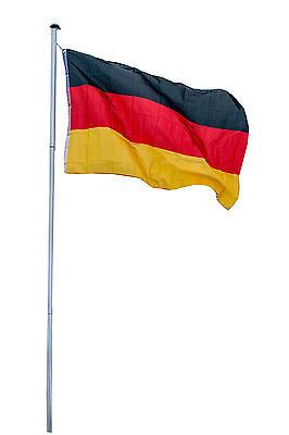 Fahnenmast Aluminium 3in1 inkl. Holland Deutschland Fahne Flaggenmast LILIMO ®