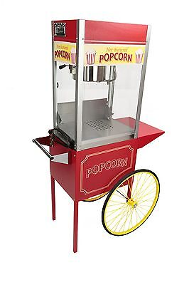 Paragon Rent-a-pop 8 Ounce Popcorn Machine Cart. Made In Usa