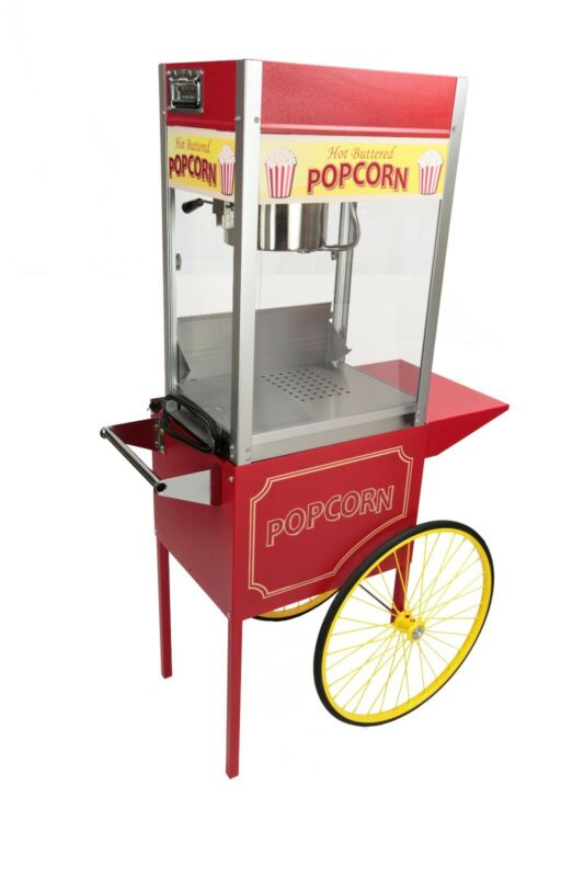 Paragon Rent-A-Pop 8 Ounce Popcorn Machine & Cart.  Made in USA!
