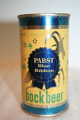 Pabst Blue Ribbon BOCK Beer 12 oz. flat top beer can from Milwaukee, Wisconsin