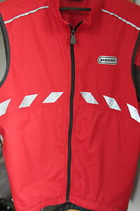 SUGOI red reflective bike bicycle vest. Size medium