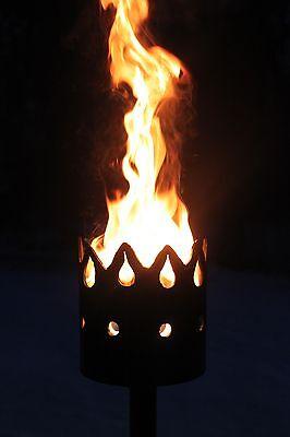 Zeitlos Fackel - Set mit Stiel und Wachsrollen Gartenfackel Feuerschale