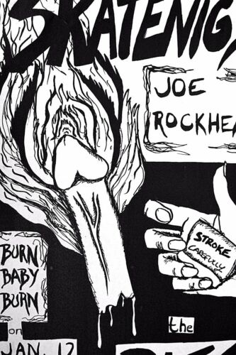 STROKE CAREFULLY - NAUGHTY JOE ROCKHEAD @AUSTIN RITZ - SCARCE PUNK POSTER RARE