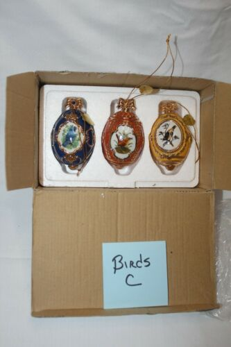 (C) Danbury Mint Birds of Splendor Set of 3 Ornaments bird watching birding