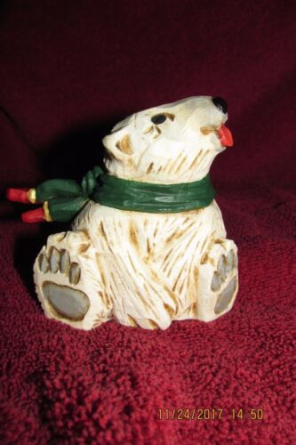 David Frykman Figurine Polar Bear with blowing scarf, signed 1998