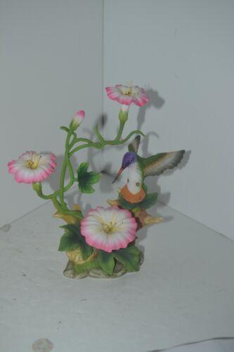 Hummingbird Porcelain Figure Flower