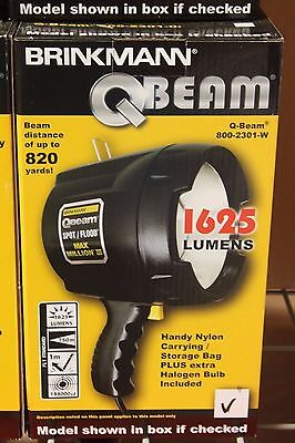 Brinkmann QBeam Spotlight Floodlight 1625 Lumens 12V Car Plug-In-NEW IN - Lumens Spotlight
