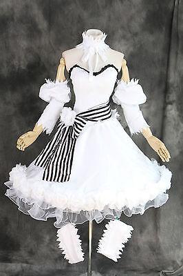H-3316 Black Butler Ciel Doll Circus Rosen Cosplay Kleid Kostüm Weiß