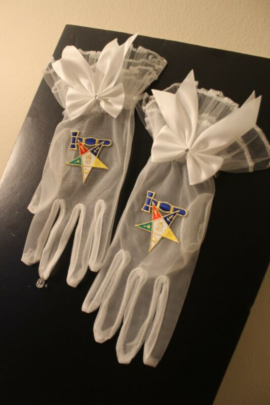 Masonic ( Eastern Star ) Past Matron Gloves