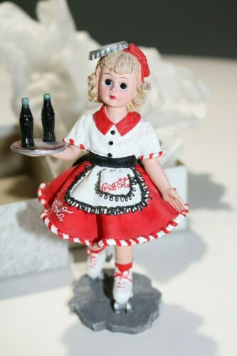 "Madame Alexander Resin Doll Figurine Coca-Cola Carhop #90210 ""Doll Face"" 1999"