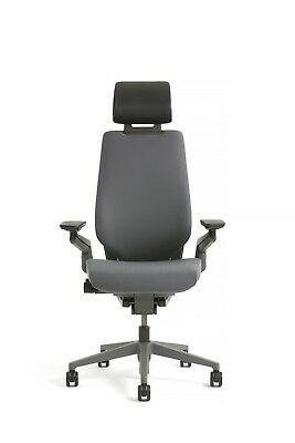 New Steelcase Gesture Chair With Adjustable Headrest Wrap Black Frame Graphite