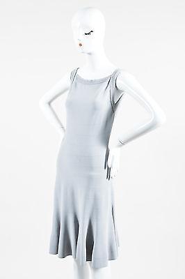 Alaia Gray Sleeveless Stretch Fit Flare Dress Sz L