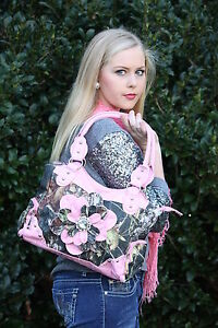 Mossy Oak Pink / Camouflage Flower Purse Camo Bling Bag - Concealed Carry CCW 76