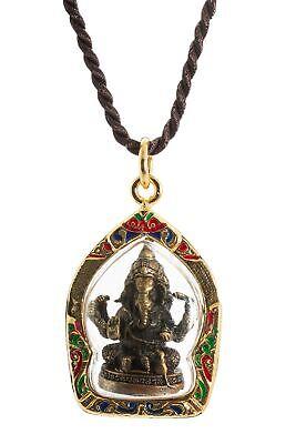 Trimuhkti Ganapati Three Headed Ganesh Amulet Hindu Lord Ganesha Pendant
