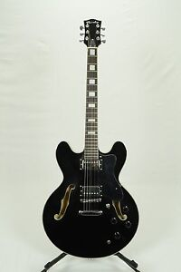 NEW BIXBY HOLLYWOOD VINTAGE SEMI-HOLLOW ELECTRIC GUITAR - GLOSS BLACK