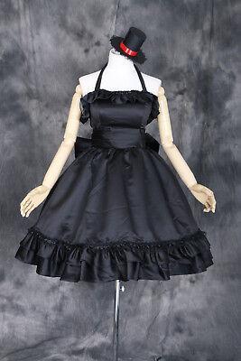a-144 K-ON! MIO AKIYAMA Cosplay Party Cocktail Kostüm Kleid Lolita Hut - Cocktail Party Kostüm