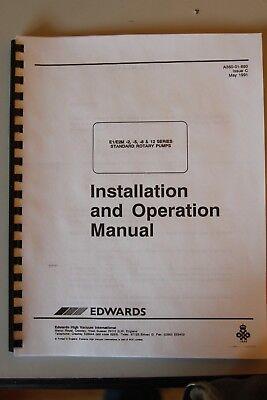 Edwards Vacuum Pump E1e2m Standard Rotary Installation And Operation Manual
