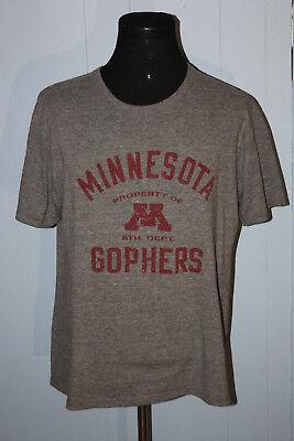 Pro Edge Minnesota Gophers Script Gray Pullover Tee Shirt Xl