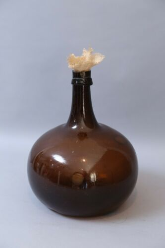 19th-C. Antique French Demijohn Wine Bottle, Bon-Bon