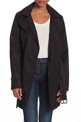 Michael Michael Kors Black Zip Trench Coat Lightweight Jacket - Black - NWT