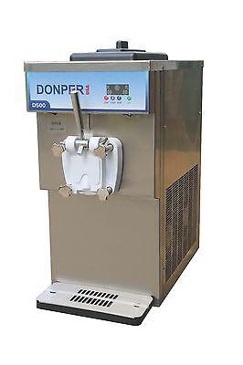 Single Flavor Soft Serve Ice Cream Frozen Yogurt Machine With Hopper Mixing
