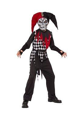 Skeleton Jester Costume (Rubies Evil Jester Clown Skeleton Skull Child Boys Halloween Costume)