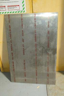 .250. 14 Aircraft Aluminum 2024-t351 Sheet Plate. 24 X 36