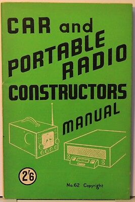 Car and Portable Radio Constructors Manual - 56 pages - Bernards Radio Books 62 for sale  Shipping to Nigeria