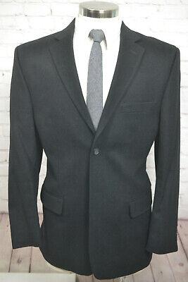 Pronto Uomo Mens Black Cashmere Silk Blend Blazer Sport Coat Jacket SIZE 44R Cashmere Mens Sport Coat